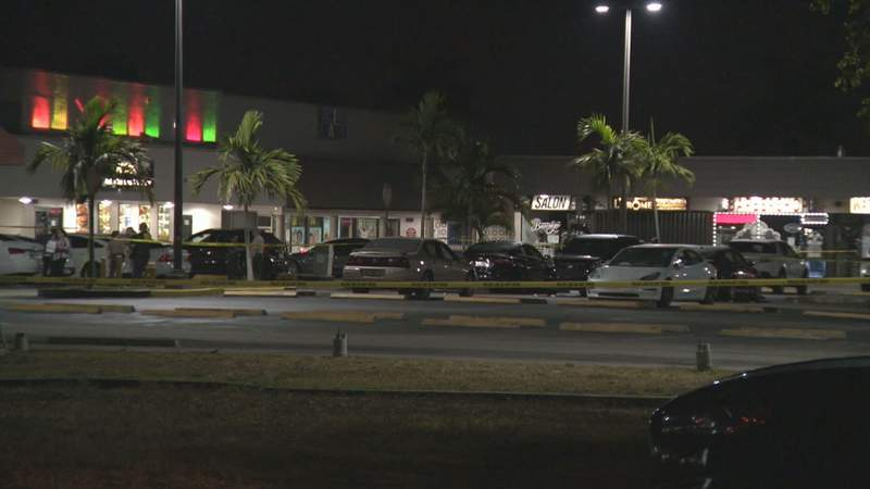 Police investigate a deadly mass shooting outside a Northwest Miami-Dade banquet hall.