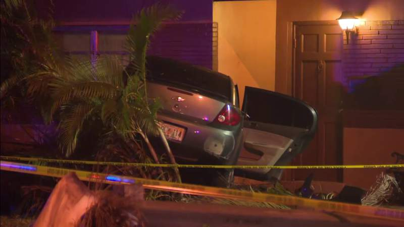 Yet another vehicle plows into a home along Miramar Parkway