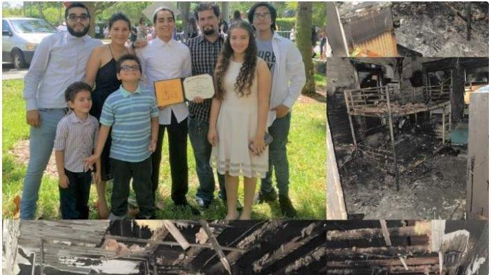A Northwest Miami Dade family escaped a fire, but their home was completely destroyed.