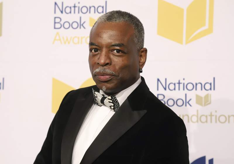 FILE - LeVar Burton attends the 70th National Book Awards ceremony in New York on Nov. 20, 2019. Burton launched the LeVar Burton Book Club with the Fable app, described on its website as a means to discover, read and discuss books, and help foster human connections and mental health.  (Photo by Greg Allen/Invision/AP, File)