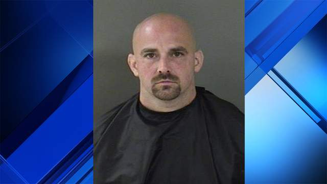 Charles Hinckley was arrested after police found him with his arm stuck in the drop box at Trinity Episcopal Church in Vero Beach.