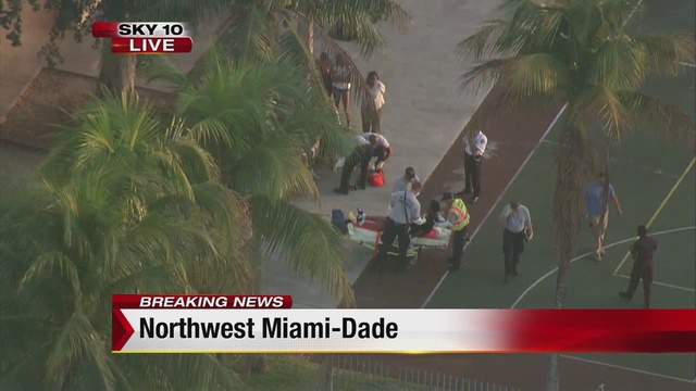 Miami-Dade police and fire rescue respond to Arcola Lakes Park