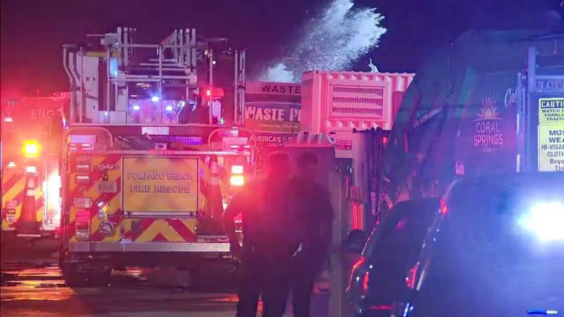 Explosive fire in Pompano Beach under investigation as possible arson