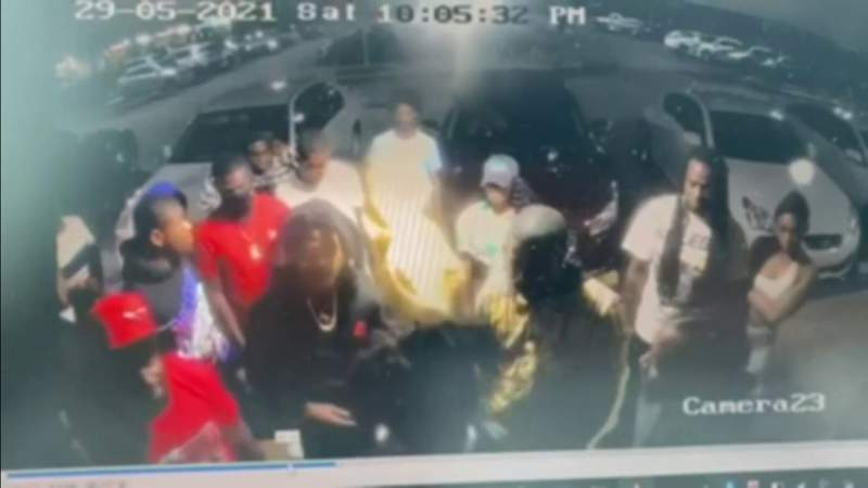 Video shows crowd outside party just before 3 shoot 23 in 10 seconds