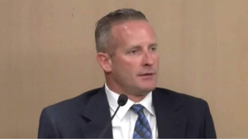 Former Palm Beach County Deputy Jason Nebergall appears in court in 2019.