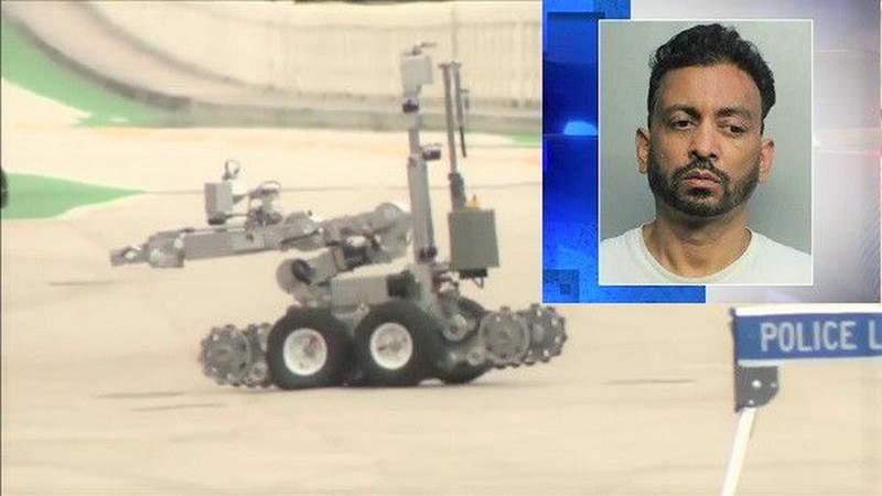 Man leaves suspicious luggage in several locations around Miami