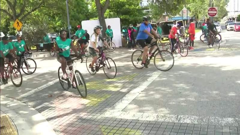 Local leaders take part in bike ride to eliminate vaccine hesitancy