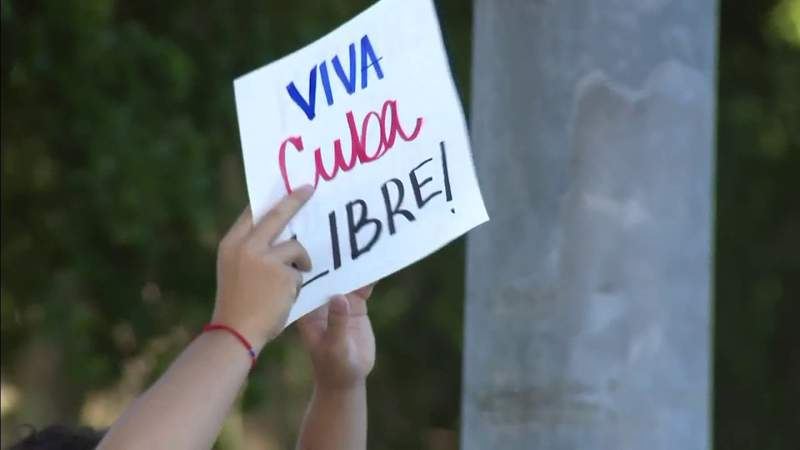 Protesters in South Florida continue to take to the streets to call for freedom in Cuba