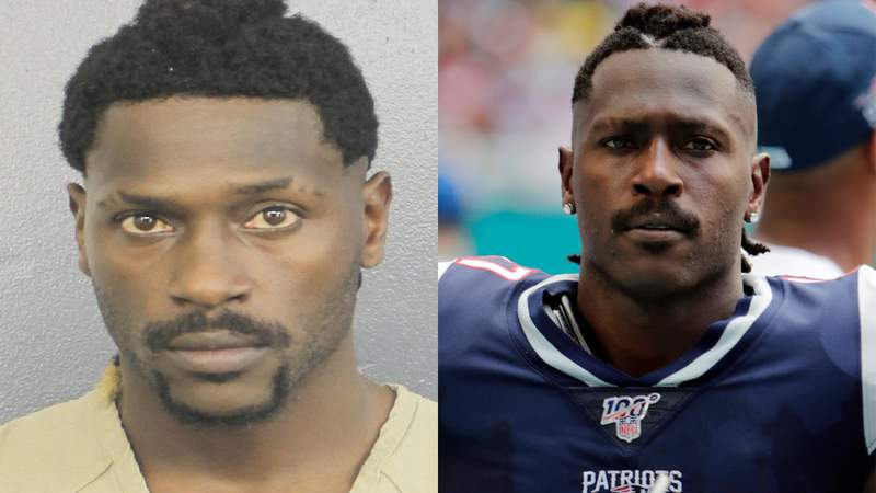 Former NFL wide receiver Antonio Brown was booked into the main Broward County jail.