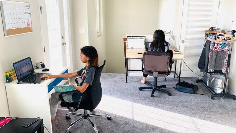During COVID-19, kids have had to begin learning from home.
