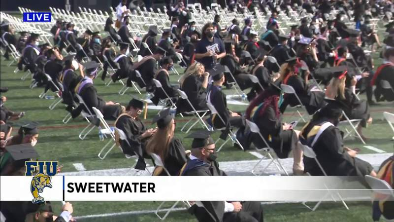 FIU holds first in-person commencement ceremony since pandemic started