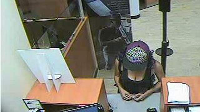 The FBI believes this woman who robbed a Chase branch in Cooper City also robbed Chase branches in Davie and in Hollywood.