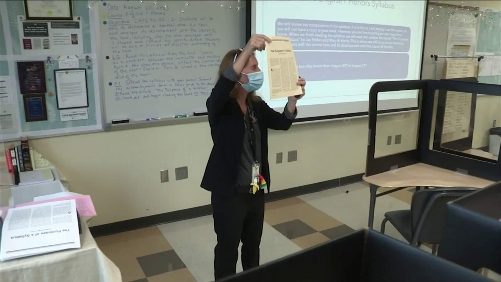 A Florida teachers union says educators need to be vaccinated against COVID-19.