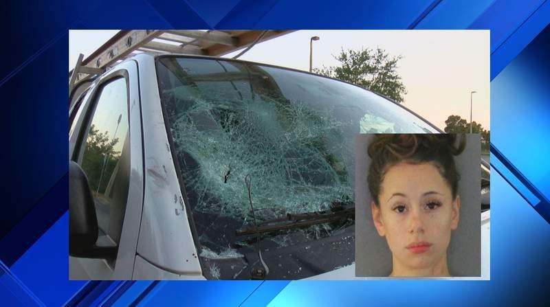 Florida woman accused of vandalizing boyfriend's work truck