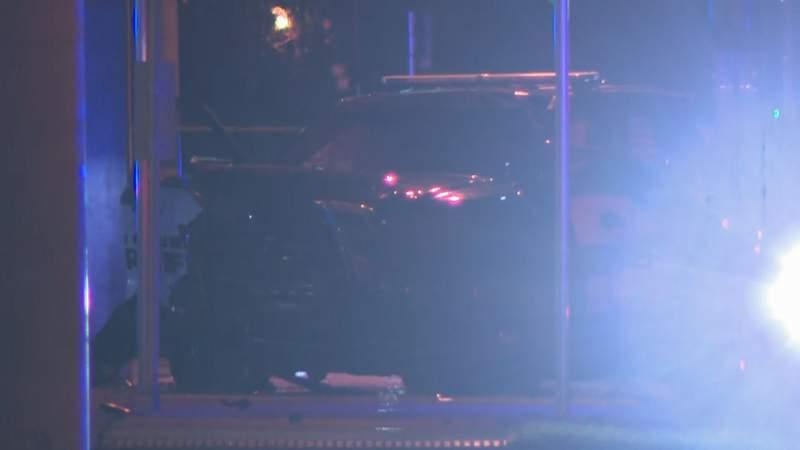 BSO patrol car involved in Dania Beach crash.