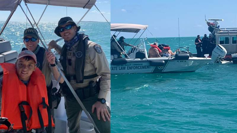 Boy, 11, helps rescue grandparents from water off Rodriguez Key.