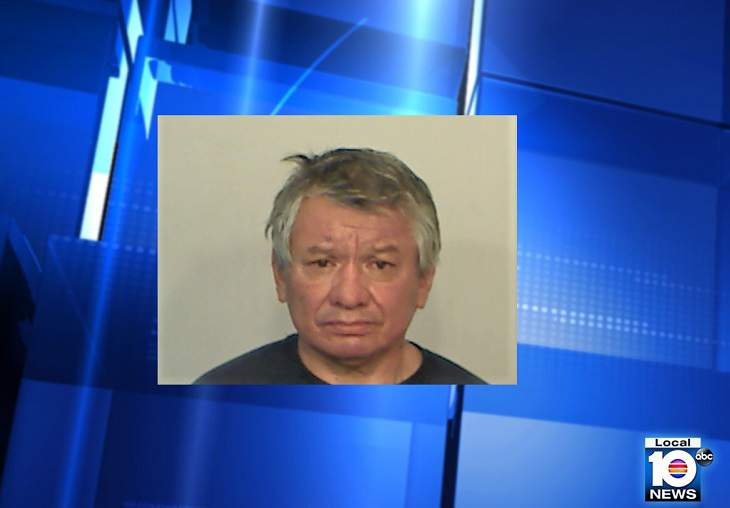 Julio Roberto Melendez Chavez, 57, was arrested in Monroe County, Fla., for exposing himself to a family at a park.