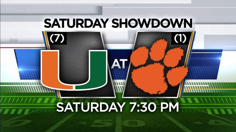Local 10 is your home for the Miami-Clemson college football showdown Saturday night in primetime.
