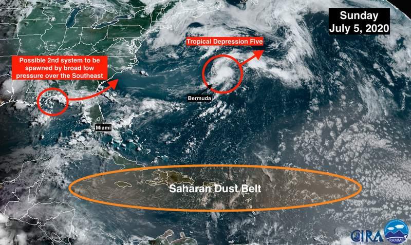 Atlantic Ocean tropics report for 7/5/20.