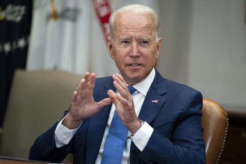 El presidente Joe Biden en la Casa Blanca en Washington el 12 de julio del 2021.   (Foto AP/Evan Vucci)