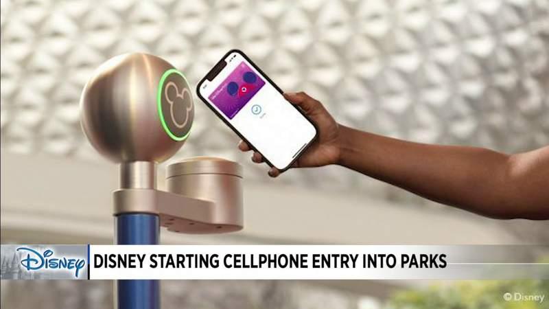 Disney starts cellphone entry into parks