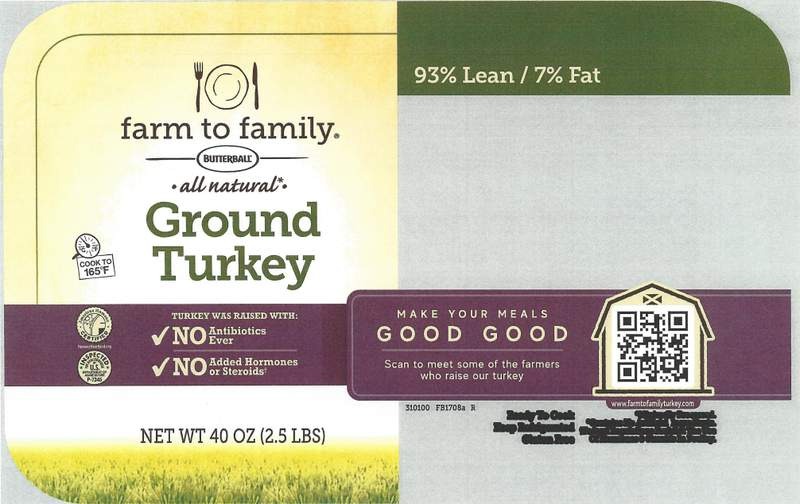 Butterball recalls 14,000 pounds of ground turkey