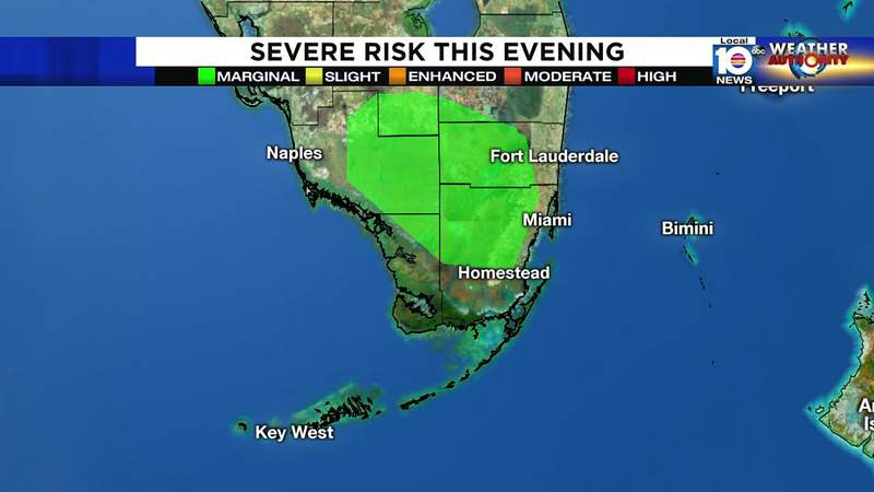 Severe weather expected Saturday evening