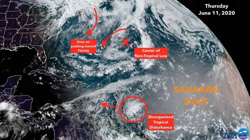 Thursday satellite image of the tropics.