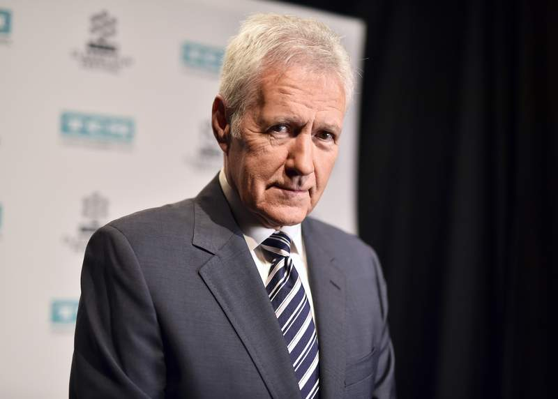 """TV personality Alex Trebek attends the screening of """"The Bridge on The River Kwai"""" in April 2017 in Los Angeles."""