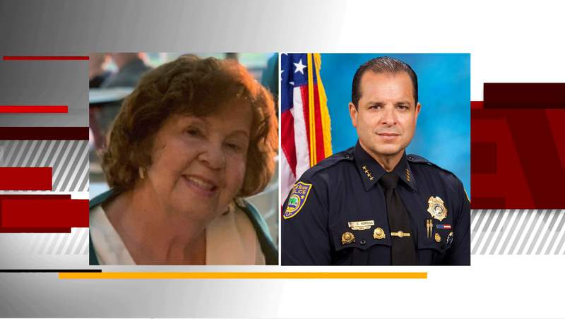 North Bay Village announced Police Chief Carlos Noriega's mother, Hilda Noriega, is among the 159 people who are unaccounted for since the Champlain Towers South collapse on Thursday morning.