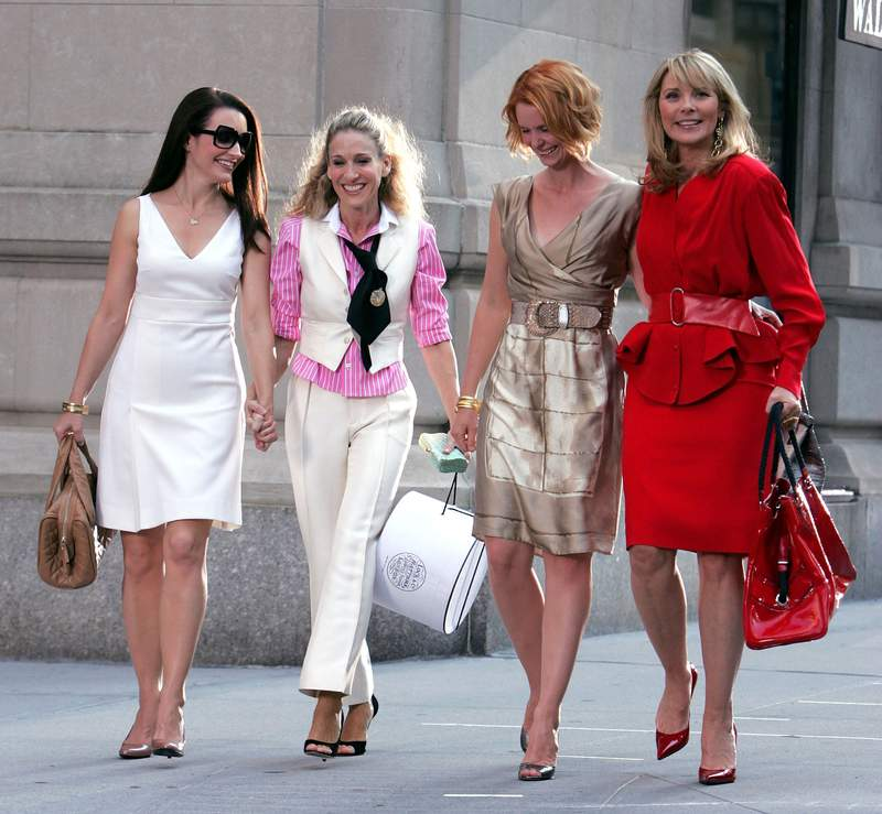 """The fabulous foursome during the first """"Sex and the City"""" movie. (Photo by James Devaney/WireImage)"""