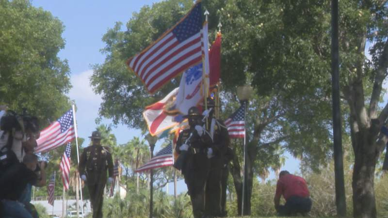 Ceremony in Tropical Park to honor the lives lost on 9/11.
