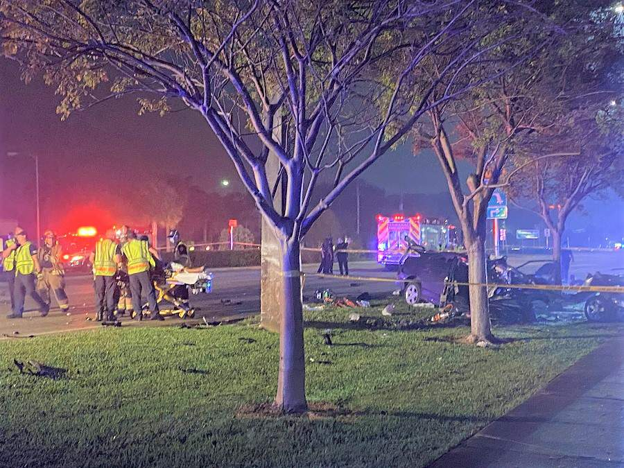 BSO said a Honda Civic traveling at a high-rate of speed killed 2 and injured 3 on July 4.
