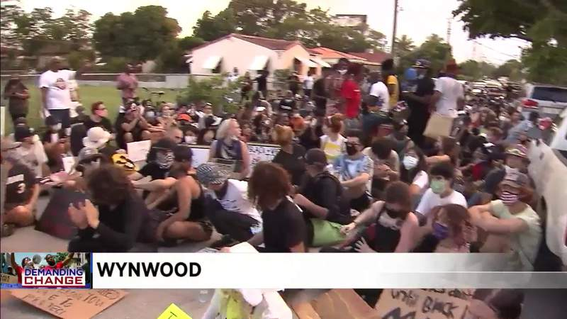 Miami marchers make eight mile journey through streets Saturday