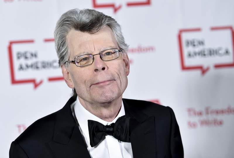 "FILE - This May 22, 2018 file photo shows Stephen King at the 2018 PEN Literary Gala in New York. King, a member of the  Academy of Motion Picture Arts and Sciences, says he cares only about quality,"" not diversity when deciding on awards. The best-selling author's comments came shortly after the announcement of this year's nominees for the Academy Awards, widely criticized for only choosing male directors and for an almost entirely white group of acting finalists. King wrote that he had been allowed to nominate people for best picture, best screenplay and best original screenplay, and that for him the diversity issue _ as it applies to individual actors and directors, anyway _ did not come up. (Photo by Evan Agostini/Invision/AP, File)"