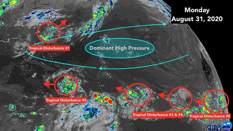 Aug. 31 satellite image of the tropics.