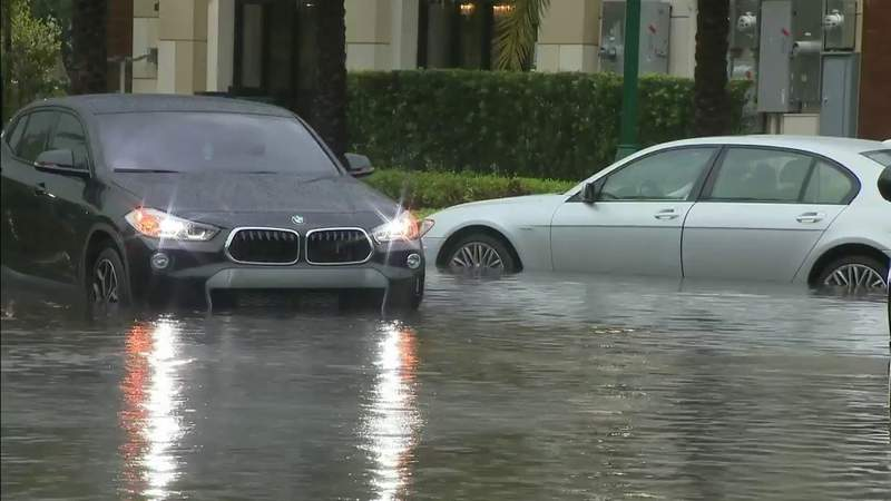 Flooding affects areas of Aventura on Memorial Day