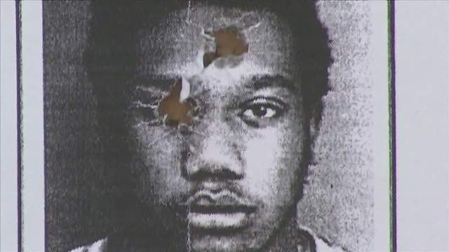 This old mug shot of Woody Deant was being used by North Miami Beach police for target practice.