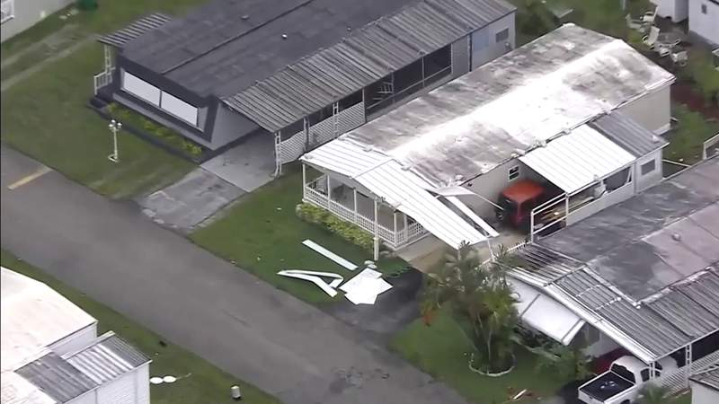 Severe weather damages several Broward County homes