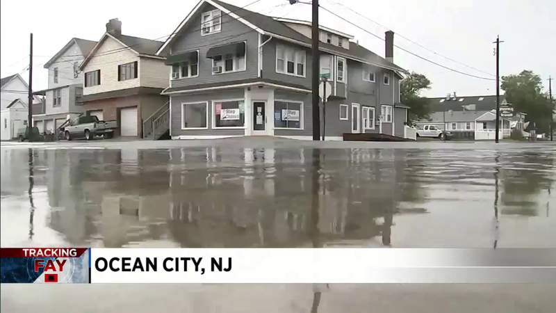 Tropical Storm Fay causes flooding in New Jersey