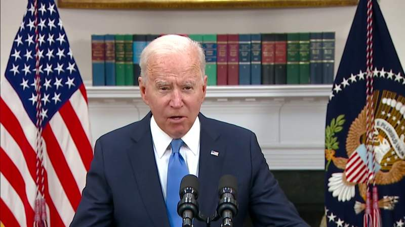 Biden urges drivers not to panic after pipeline hack