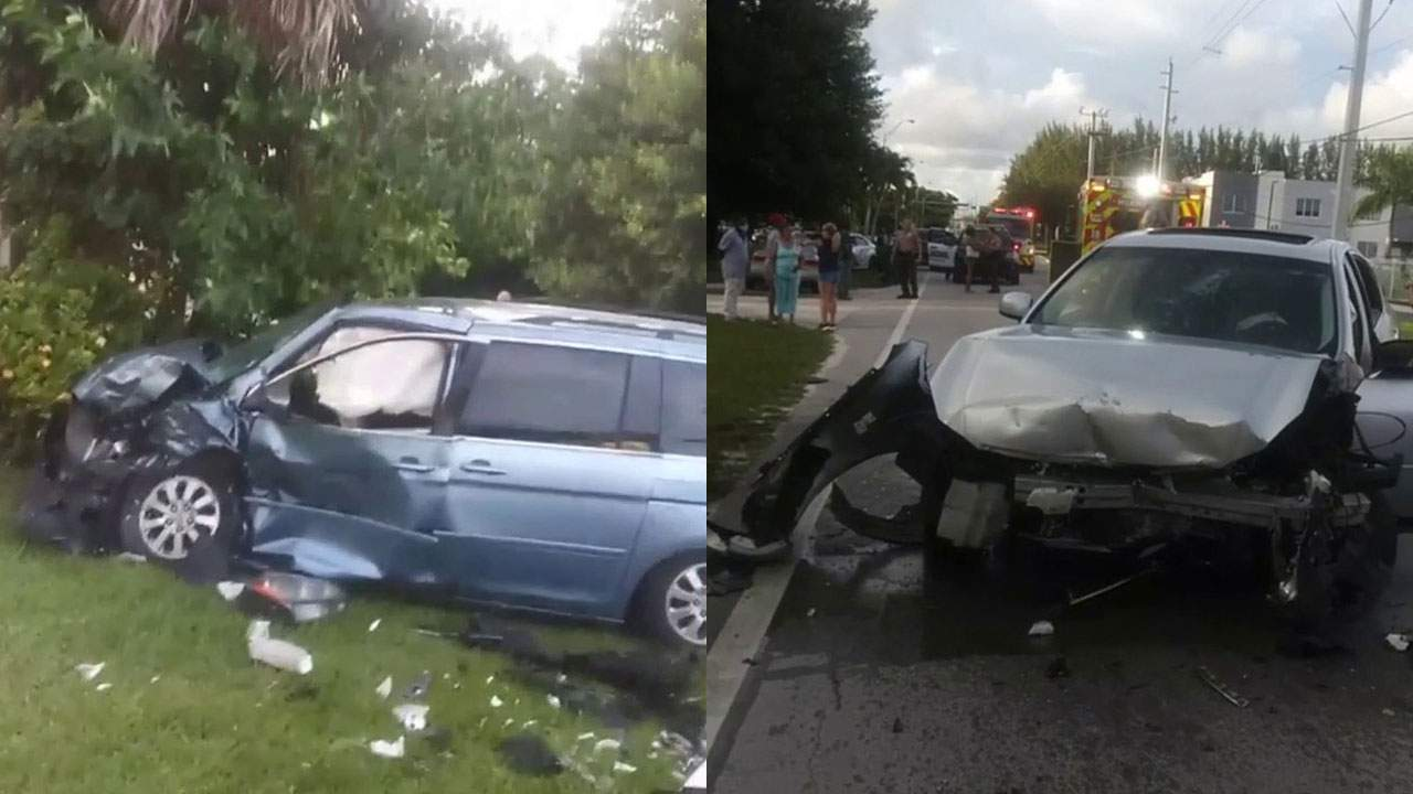 A car crash in Golden Glades left a newborn baby dead on Friday night in Miami-Dade County.