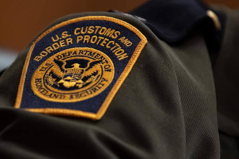 WASHINGTON, DC - APRIL 09: A U.S. Customs and Border Protection patch on the uniform of Rodolfo Karisch, Rio Grande Valley sector chief patrol agent for the U.S. Border Patrol, as he testifies during a U.S. Senate Homeland Security Committee hearing on migration on the Southern U.S Border on April 9, 2019 in Washington, DC. During the hearing, lawmakers questioned witnesses about child mentions, minor reunification, and illegal drug seizures on the Southern Border. (Photo by Alex Edelman/Getty Images)