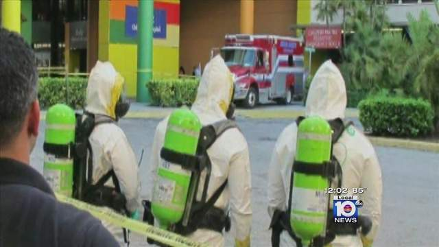A teenager from West Africa was taken to Jackson Memorial Hospital on Sunday after exhibiting signs of Ebola, but the city of Miami Beach said preliminary results are negative.