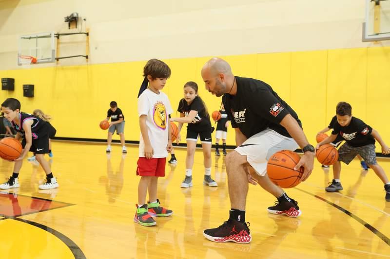 Jr. HEAT basketball camps.