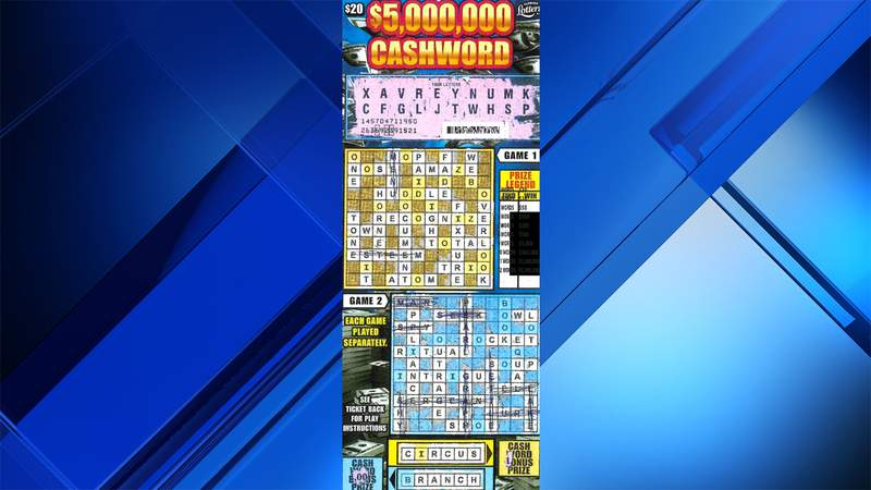Wilma Todd's granddaughter spotted a $1 million win from this scratch-off ticket.