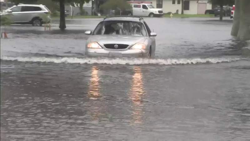 Areas of Fort Lauderdale flooded from Tropical Storm Eta