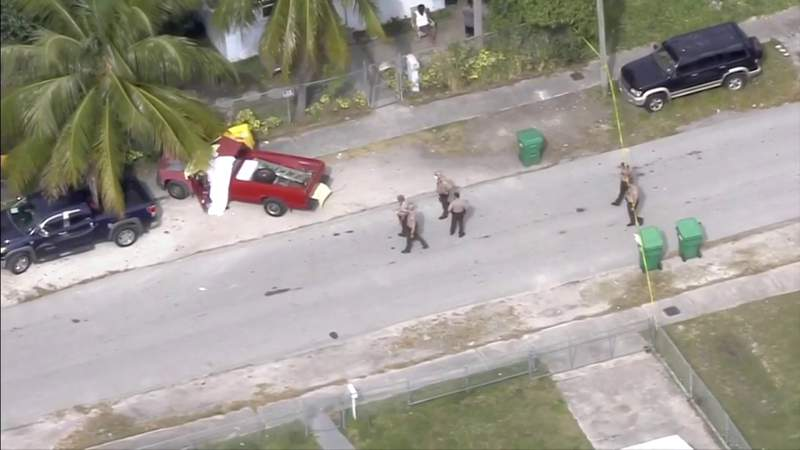 Police investigating man found shot to death inside pickup truck in Southwest Miami-Dade