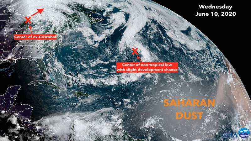Cristobal Wednesday satellite image.