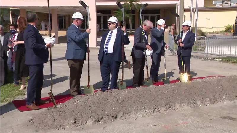 Groundbreaking ceremony held for new Panthers training facility at Fort Lauderdale War Memorial site